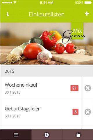 MixGenuss - Einkaufsapp - náhled