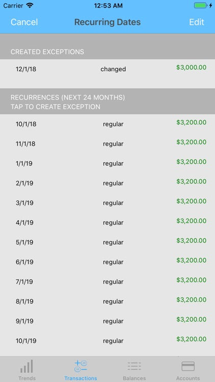 Money Forecast: CashFlow screenshot-6