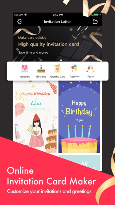 Party Invitation Cards Maker By Wuhan Net Power Technology Co Ltd IOS United States
