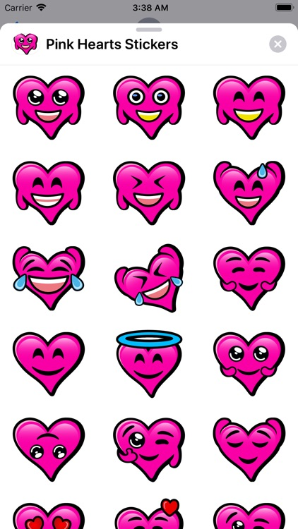 Pink Hearts stickers