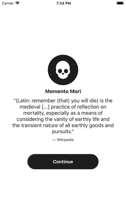 Memento Mori App