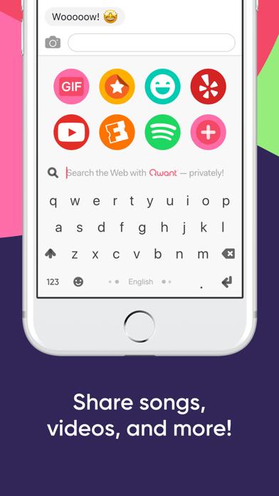 Fleksy- GIF, Web & Yelp Search iPhone