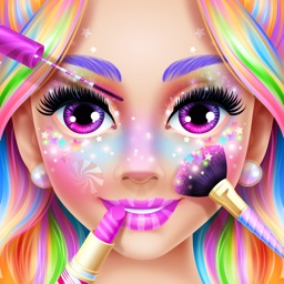 Rainbow Unicorn Candy Salon