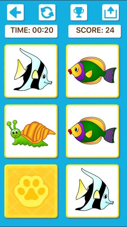 Animal Memory Matching Games screenshot-6