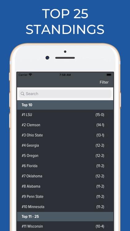 Kansas Football Schedules screenshot-5