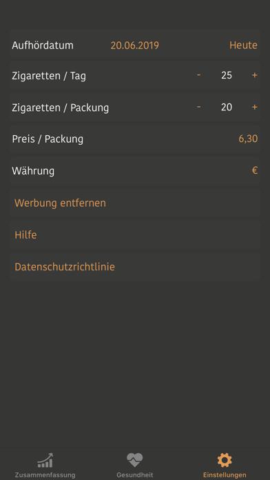 Rauchfrei Pro App