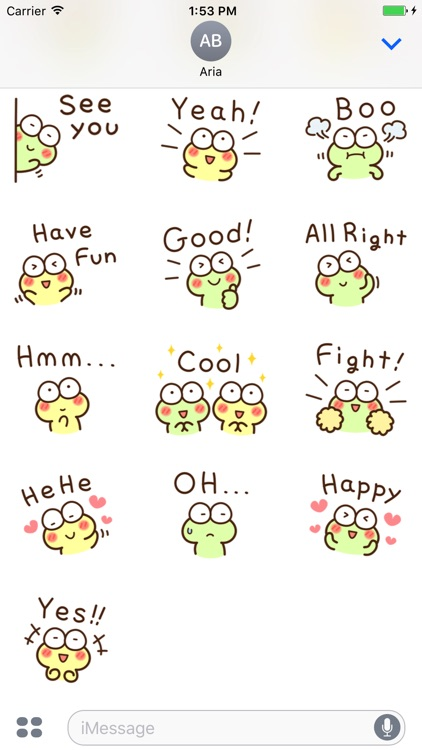 Chat With Cute Frog Sticker screenshot-3