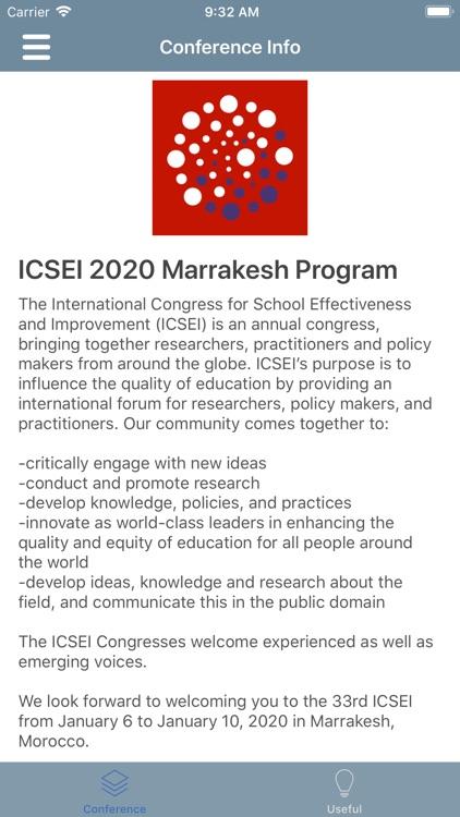 ICSEI 2020 Marrakesh Program