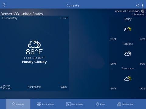 WeatherNation App - náhled