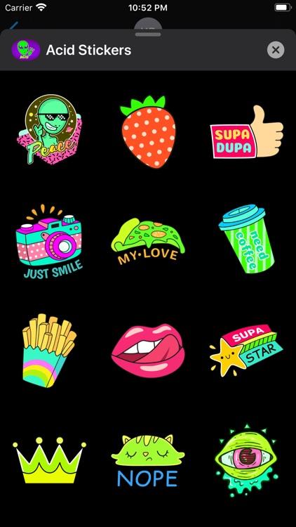 Acid Stickers: Trippy Fun screenshot-6