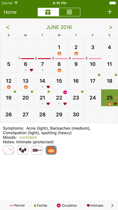 Period Tracker Deluxe screenshot two