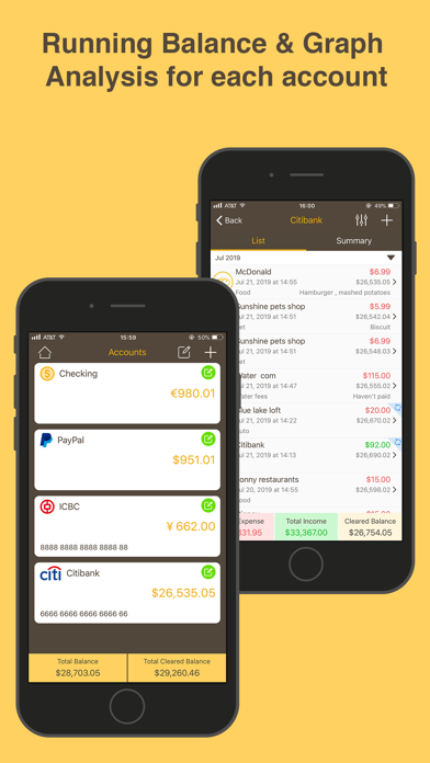 Screenshot for Money Monitor Pro in Portugal App Store