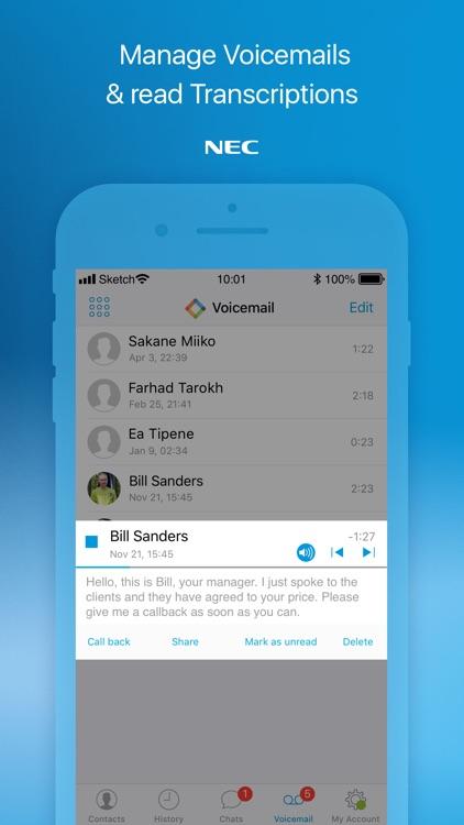 UNIVERGE BLUE™ CONNECT screenshot-4