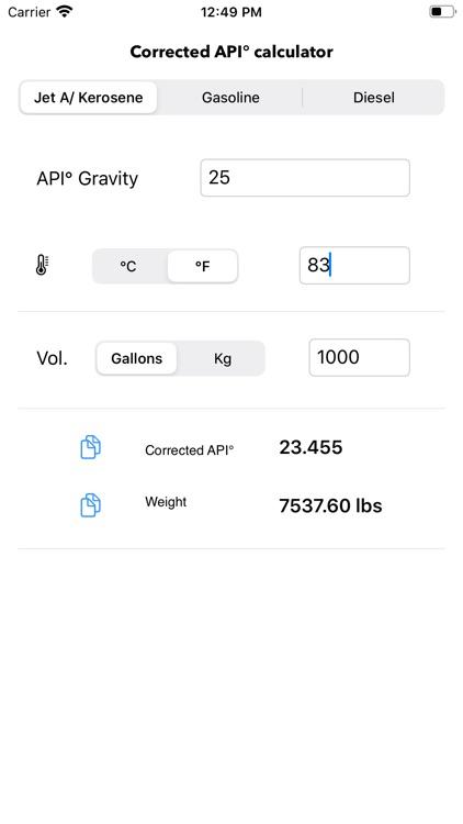 API Gravity Calc