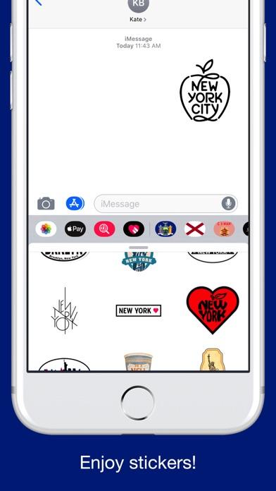 New York emojis - USA stickers screenshot 5