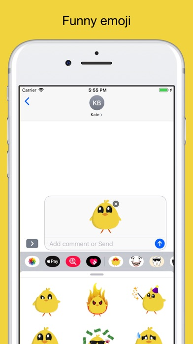 Chicky chick - chicken emoji screenshot 3