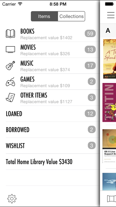 Home Library review screenshots