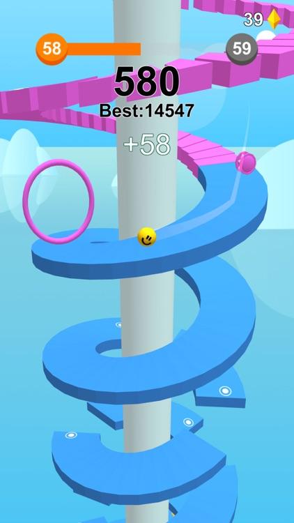 Jump Ball-Bounce On Tower Tile