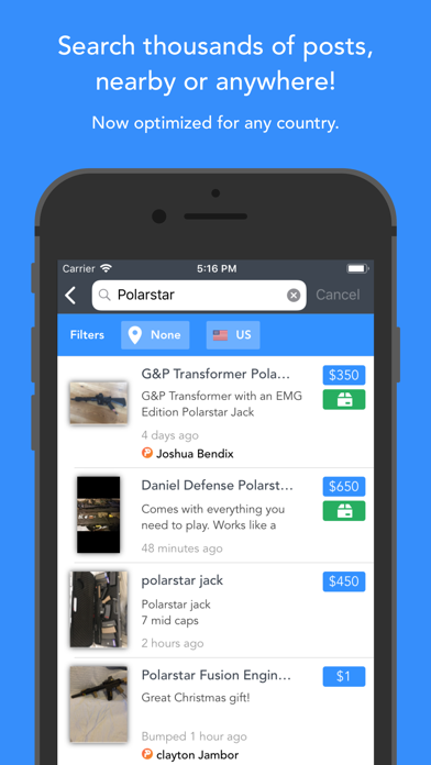 HopUp - Airsoft Marketplace Screenshot