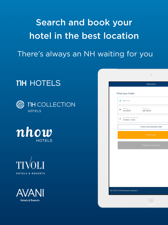 Hotels NH - Find Hotel Nearby Tonight, Chose Hotels Aroundme, Free Nights with NH Rewards screenshot