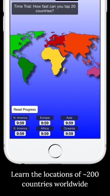 World Map Challenge! Geography screenshot-3
