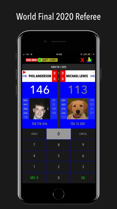 Russ Bray Darts Scorer Pro screenshot one