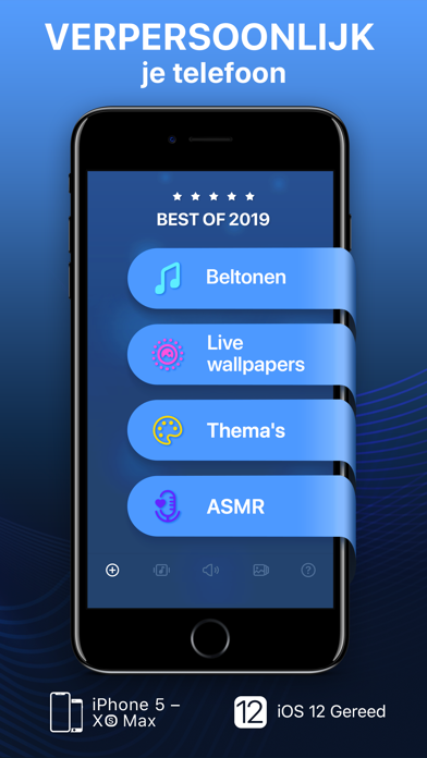 Screenshot for Beltonen & live achtergronden in Netherlands App Store