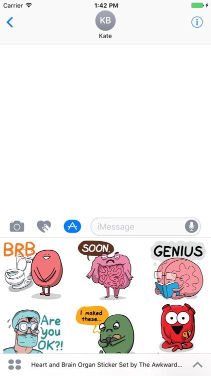 Heart and Brain Sticker Pack