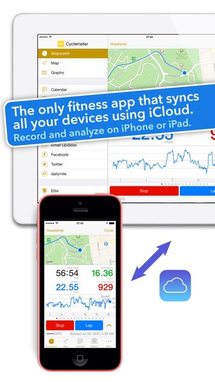 Cyclemeter Cycling Running GPS screenshot-4