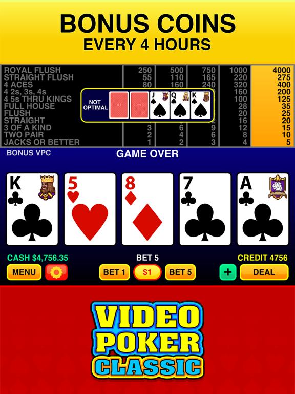 Video Poker Classic - FREE Vegas Casino Video Poker Deluxe Games Suite screenshot