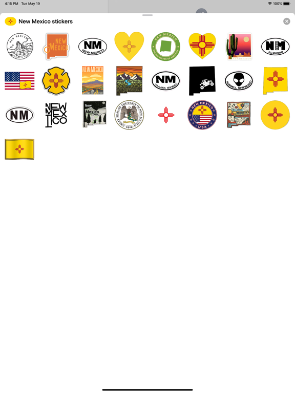 New Mexico emoji USA stickers screenshot 3