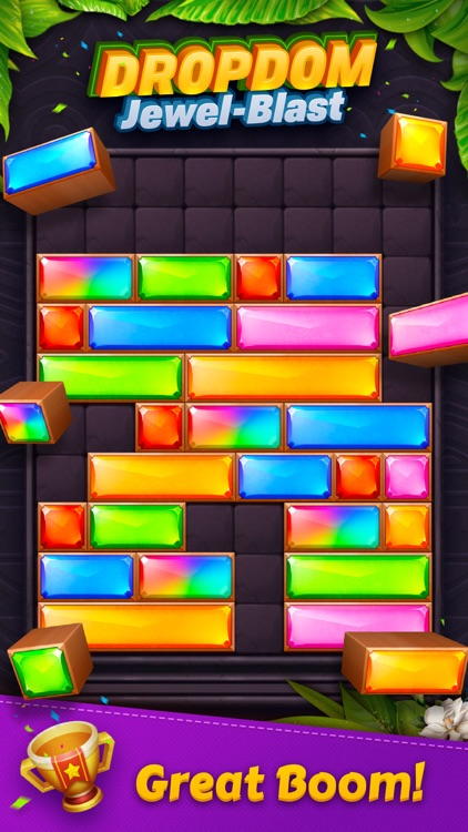 Dropdom™ Puzzle Block Jewel screenshot-3