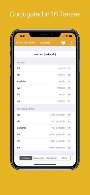 German Verb Conjugator on the App Store