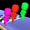 Color Man Race - Parkour Flip