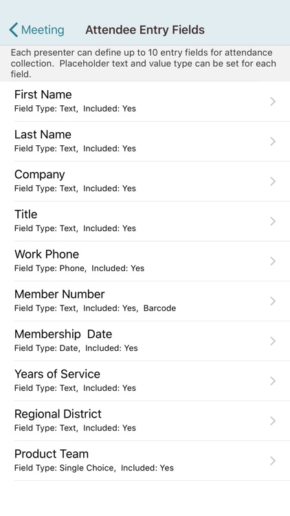 Meeting Attendance for iPhone