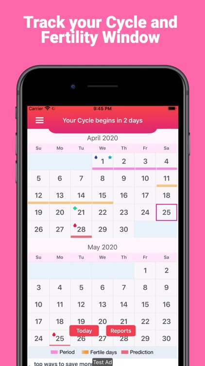 PeriodTrack, Cycle & Ovulation