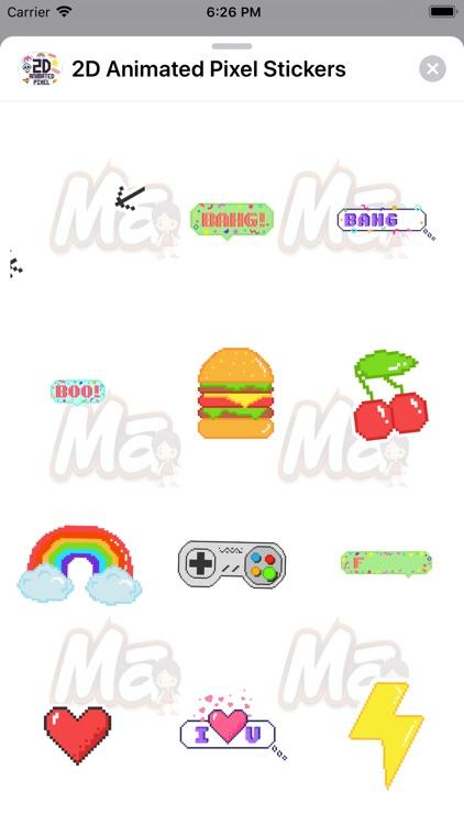 2D Animated Pixel Stickers screenshot-3