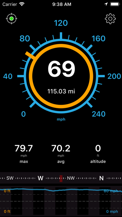 Speedometer Speed Box screenshot one