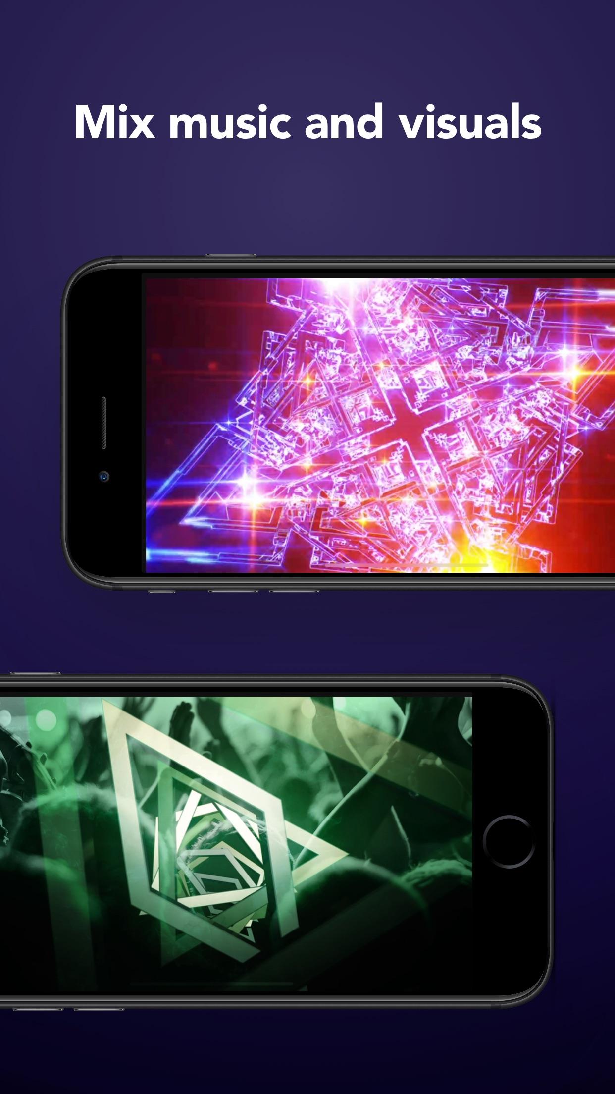 Screenshot do app djay - DJ App & Mixer