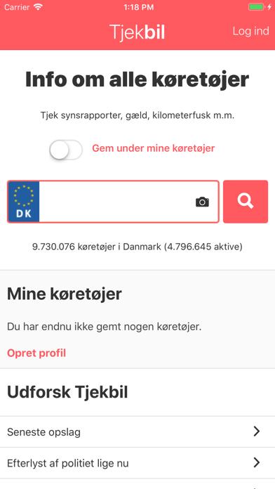 Screenshot for TjekBil - tjek nummerplade in Denmark App Store