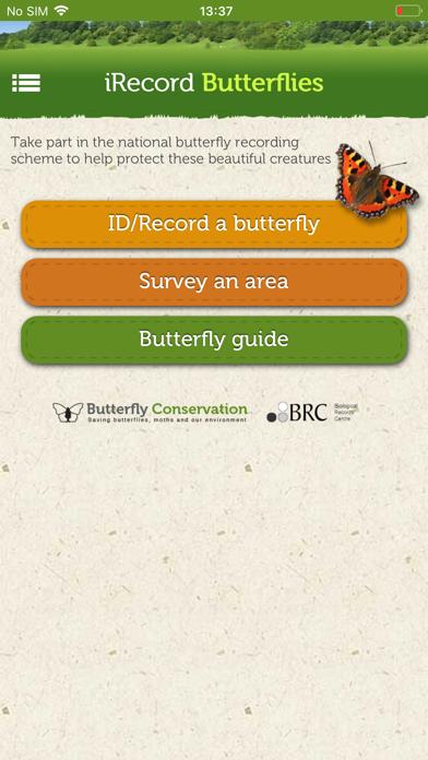 iRecord Butterflies screenshot one