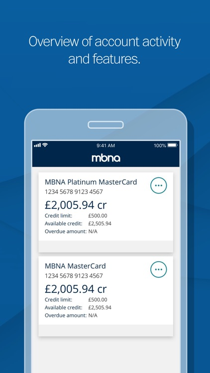 MBNA Card Services app screenshot-0