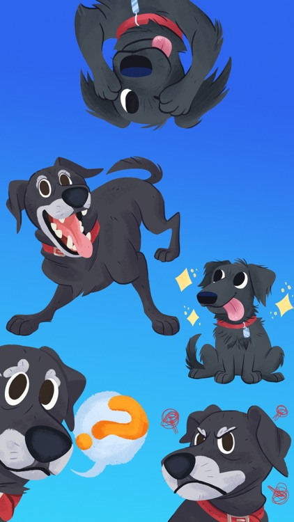 Mr. Cooper Black Dog Stickers screenshot-3