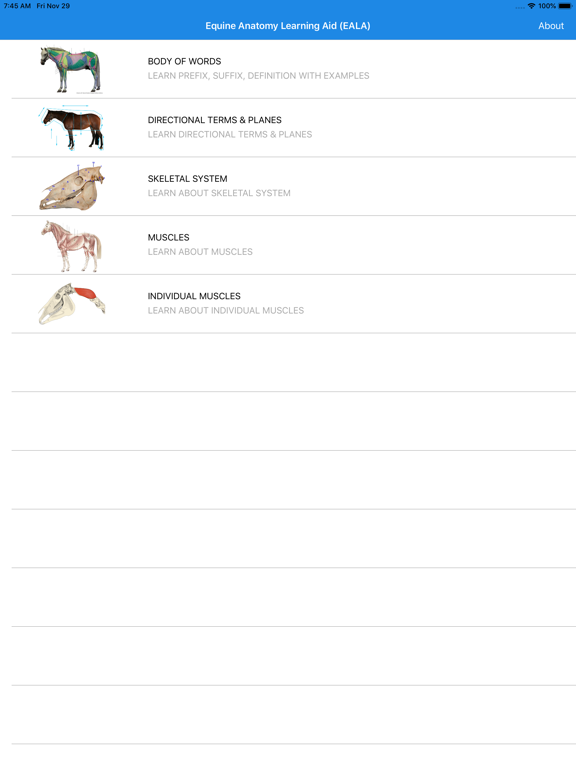 Equine Anatomy Learning Aid screenshot 5