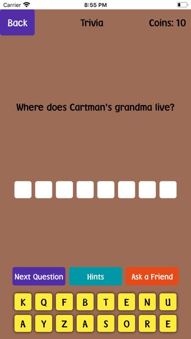 Quiz For South Park