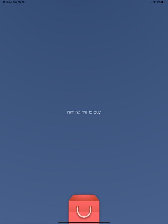 RMTB - Remind me to buy! screenshot #1