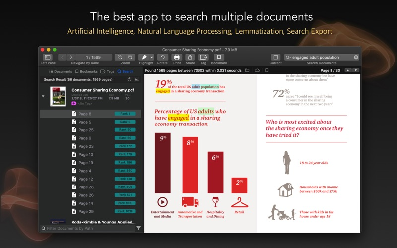 PDF Search for Mac