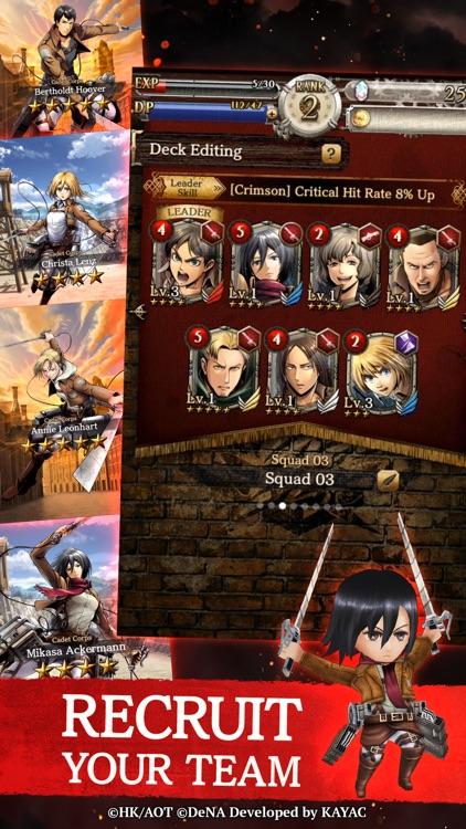 Attack on Titan TACTICS screenshot-4