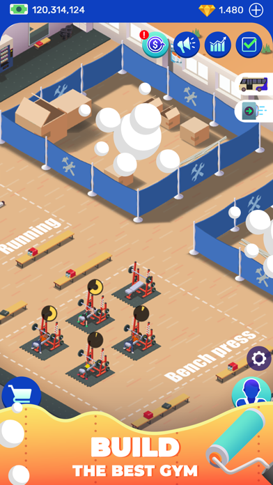 Idle Fitness Gym Tycoon - Game screenshot 5