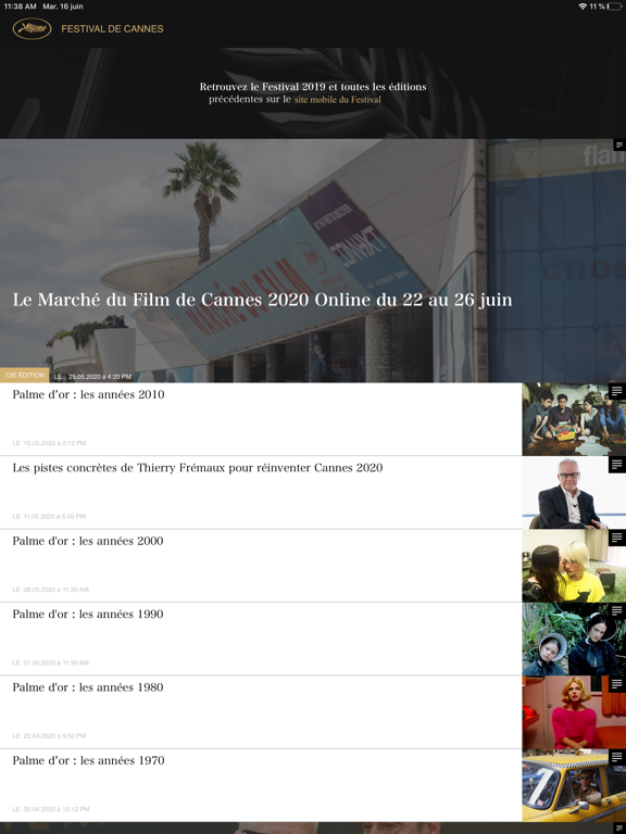 Festival de Cannes - Officiel iPad